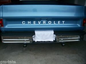 73 80 1973 1980 Fleet Side Chevy Pickup Tailgate Decal Letters Ebay