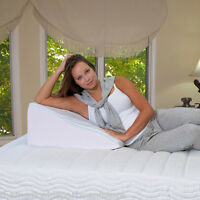 Elevating Wedge Bed Pillow - Premium Therapeutic Pillow - Best Support Pillow
