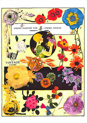 Vintage Downton Abbey era -14 1920s flapper flower corsage sewing patterns on CD