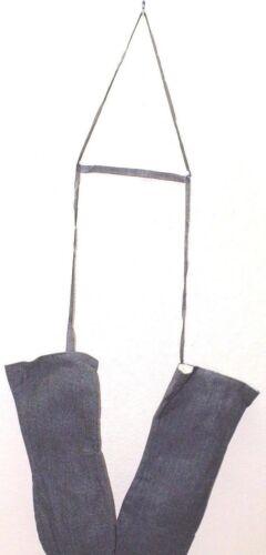 New Swiss Canvas Mittens Salt n Pepper  w neck strap sz XLarge pair E9330