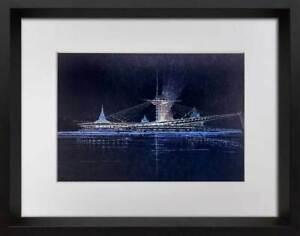 Frank-Lloyd-WRIGHT-Lithograph-ed-Ltd-Ed-Suspension-Bridge-Pittsburgh-w-FRAME