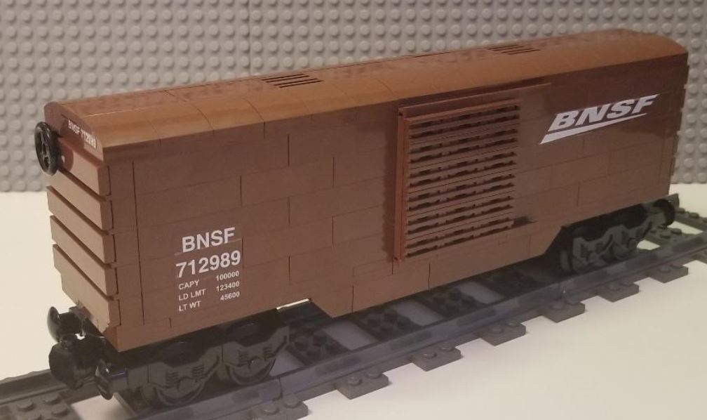 Lego Train Boxcar BNSF  -- PLEASE READ ITEM DESCRIPTION --