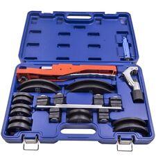 Tube Pipe Bender Hvac Refrigeration Ratchet Bending Heads Supports Tool Kit Set