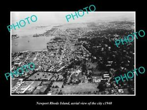OLD-LARGE-HISTORIC-PHOTO-OF-NEWPORT-RHODE-ISLAND-AERIAL-VIEW-OF-THE-CITY-1940-1