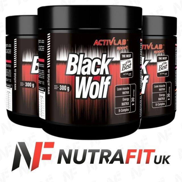 ACTIVLAB BLACK WOLF pre-workout energy lean muscle matrix creatine caffeine