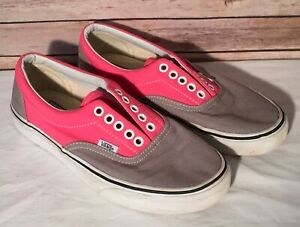 Pink Grey Skate Shoe Sneaker Lace Up
