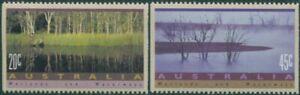 Australia-1992-SG1319-1320-Wetlands-and-Waterways-set-MNH