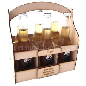 Personalised-Fathers-Day-Christmas-Birthday-Wooden-MDF-Beer-Crate-Holder
