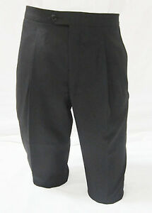Size 35 Long  New Black 100/% Tropical Wool Traditional Tuxedo Pants Tux Trousers