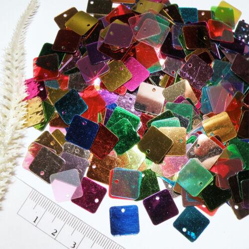 multicolores-MIX Paillettes carré 500 lots 12x12mm pailette rectangle pendentif