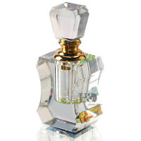 Clear Vintage Glass Perfume Atomiser Bottle Stopper Ornament Wedding Decor Gift