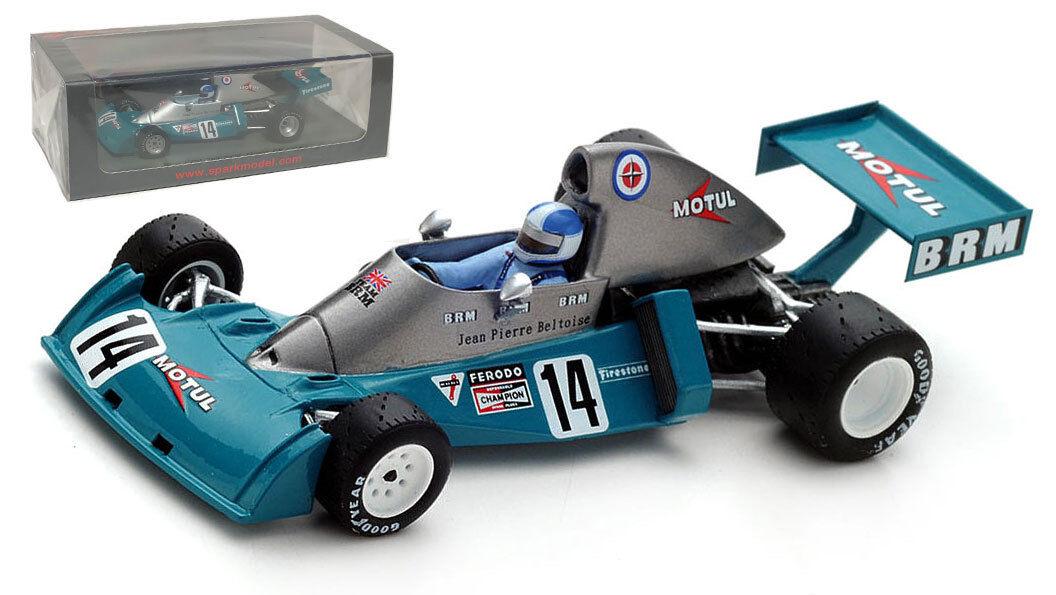 Spark S4796 BRM P201 2nd Sudáfrica GP 1974-Jean-Pierre Beltoise 1 43 Escala