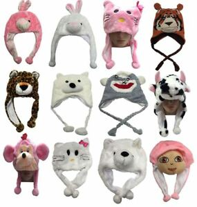 Animal Caps Kids Fun Cartoon Characters Ski Hat Warm Winner Hats ... be91a773c9a6