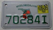 """Estados unidos matrícula de florida """"myflorida. com"""" como escudo de motocicleta. 10225. +"""