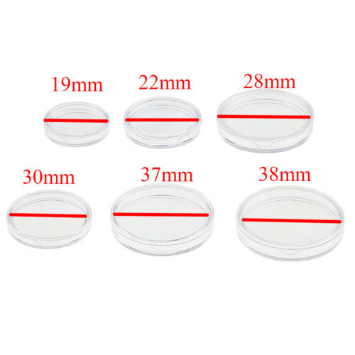 200pcs 38mm Plastic Coin Containers Round Coin Case Capsules Boxes Holder