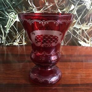 Classy-Bohemian-Ground-Ruby-Red-Uberfang-Vase