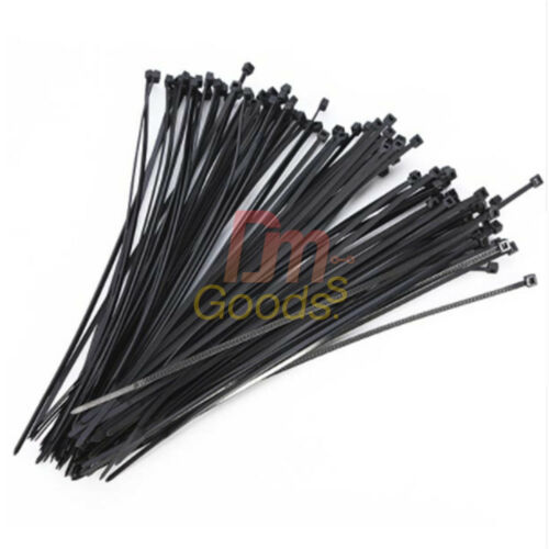 100PCS 2.5X 200mm Cable Zip Ties Wire Self-Locking Wrap Fasten Nylon Cable
