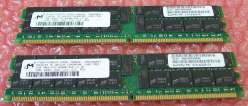 Sun Microsystems 4GB Memory Kit X7802A 370-6209 2x2GB