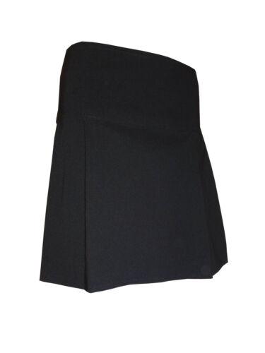 girls school black pleated midi skirt size 6 8 12 14 16 PL-SK women