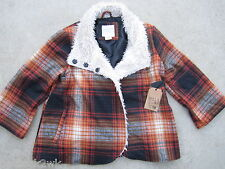 NEW* Billabong L Shade of Love Winter COAT JACKET TOP Wool Blend $100 Orange