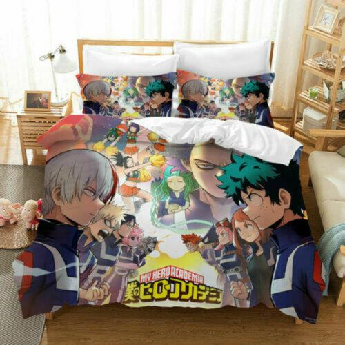 My Hero Academia Izuku Bedding Set 3PCs Duvet Cover Pillowcase Twin Full Queen
