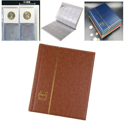 200 Slots Coin Penny Collecting Holder Storage Folder PU Album Book Sleeve B