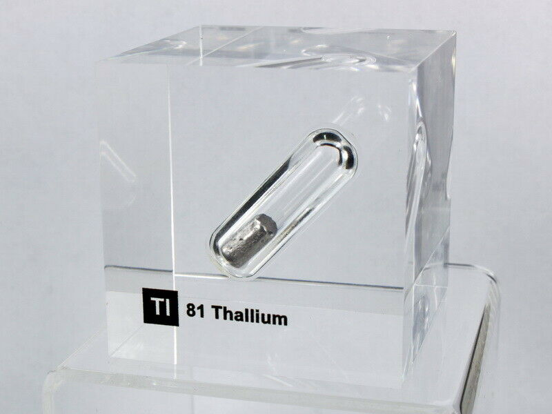 Acrylic EleSiet cube - Thallium Tl - 50mm