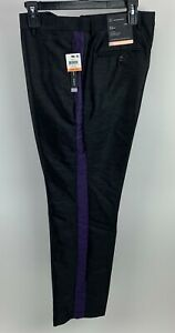 INC-International-Concepts-Men-039-s-Milan-Slim-Fit-Dress-Pants-Black-100043168