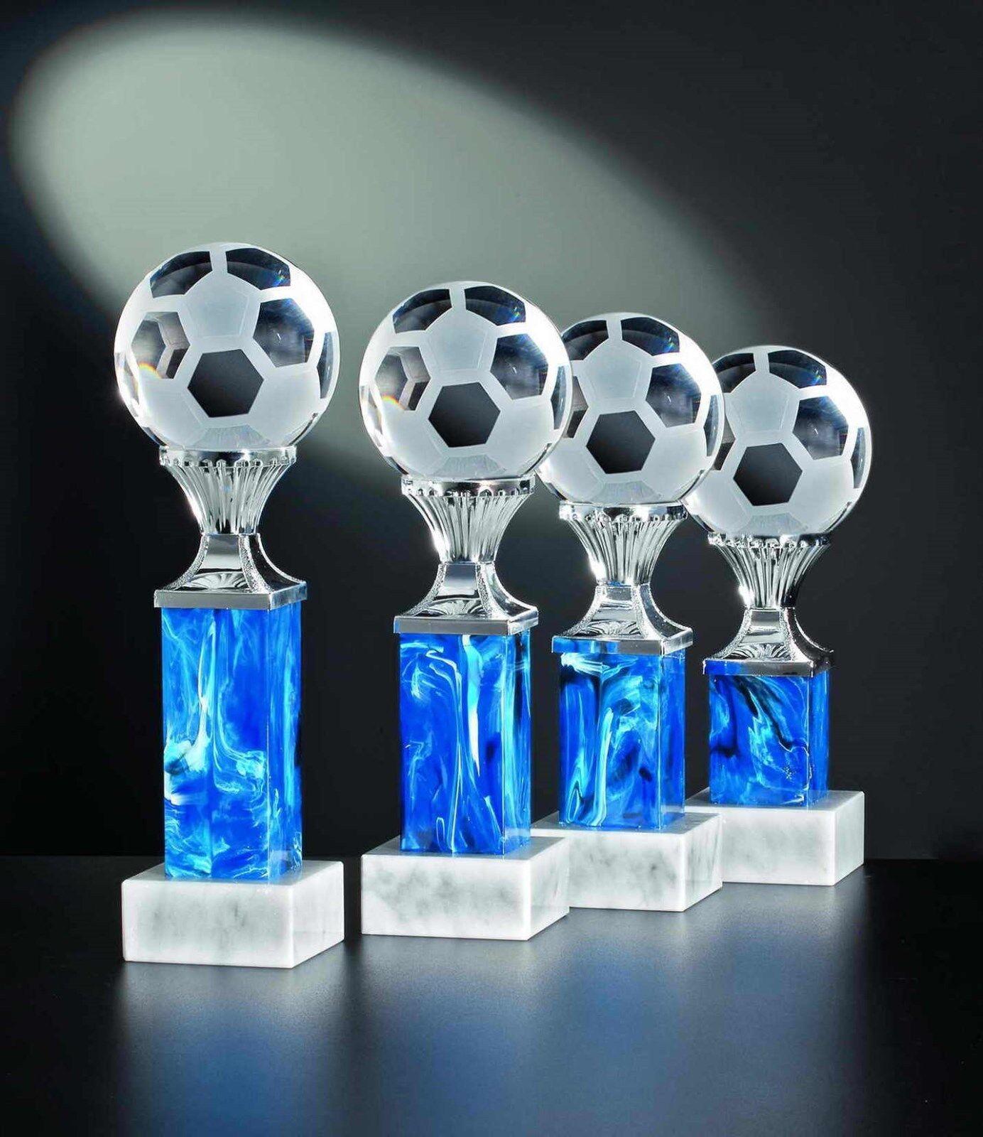 3 glaspokale fútbol noblesseglas 25 22 20cm con grabado  1 (glaspokal vencedor)