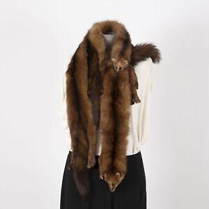 Vintage-Mink-Stole-Three-Full-Body-Pelt-Wrap