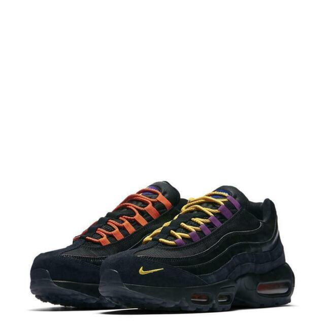 d51456f5f9 Nike Mens Air Max 95 PRM LA Vs NYC Sneaker Shoes Black/Rush Blue AT8505