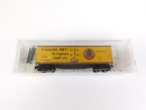 N-Scale-MTL-Micro-Trains-Line-49190-GARE-Canada-Dry-40-039-Reefer-9106-RTR-Model