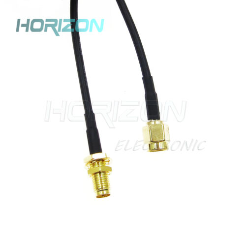 WiFi Wireless Router 3M Wi-Fi Black Antenna Extension Cable RP-SMA