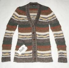 D&G DOLCE&GABBANA multicolor knit cardigan sweater jumper pull maglione donna 40