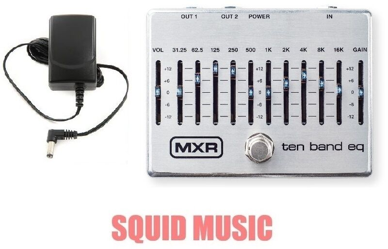 MXR Dunlop Ten Band Graphic EQ Pedal M108S M-108S 10 Band (POWER SUPPLY ADAPTER)