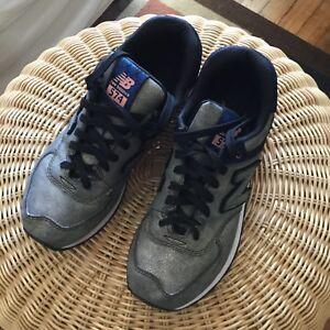 Salvación Uluru perdonado  Zapatillas de mujer para deportes pasear Running New Balance 574 Bronce de  cuero Talla 8US | eBay