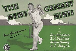 DON-BRADMAN-HAND-SIGNED-039-THE-NEWS-CRICKET-HINTS-039-BOOKLET-RARE-COLLECTABLE