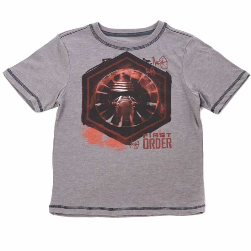 Star Wars Kids Graphic Tee 100%cotton Size 8 First Order Kylo Ren S Grey