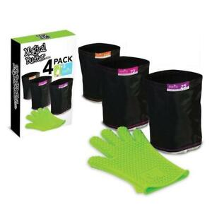 4PK Magical Butter 25/73/220 Micron Filters & Silicon Glove f/Botanical Extracts