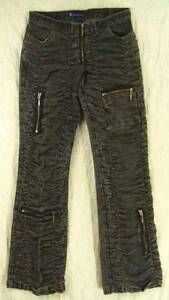 Low-Rise-GATHERED-Ruched-PUCKERED-Zippers-Leg-Pockets-SO-GSJC-Stretch-Jeans-7