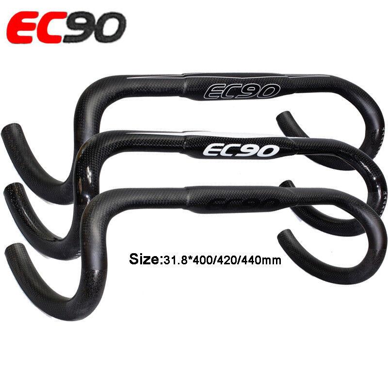 EC90 Bicycle Drop Bar Cycling 3K Carbon Road Bike Handlebar 31.8400 420 440mm