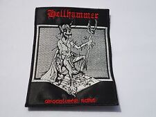 HELLHAMMER APOCALYPTIC RAIDS BLACK METAL EMBROIDERED PATCH