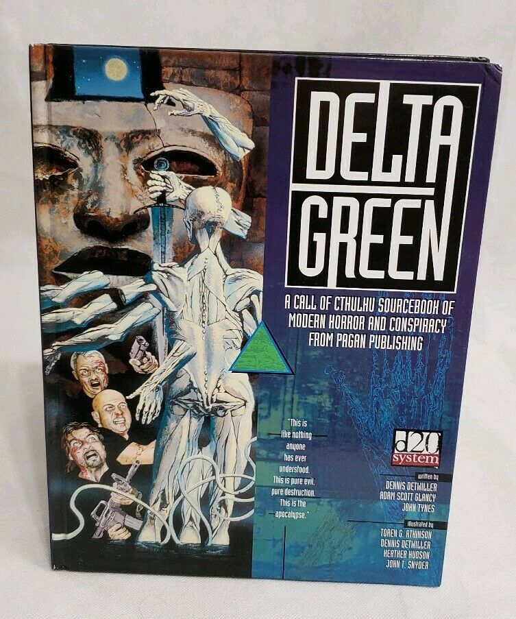 DELTA verde RPG Call of Cthulhu d20 HC Pagan Publishing 2006