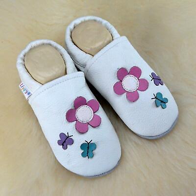 Cordiale Pantofole's Krabbelpuschen Liya Pantofole - #509 Fiore U. Farfalla In W-mostra Il Titolo Originale I Clienti Prima Di Tutto