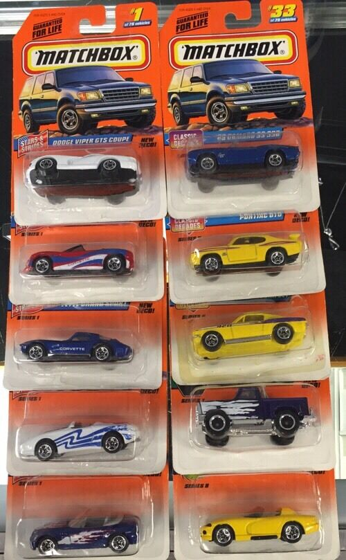 Matchbox menge 20 autos alle new in box