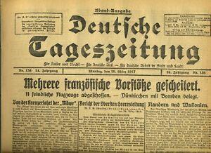 1917-Deutsche-Tageszeitung-Franzoesische-Vorstoesse-gescheitert-Flandern-Wallonien
