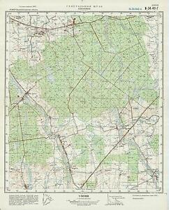 Russian Soviet Military Topographic Map Sosnovka Russia 1 50