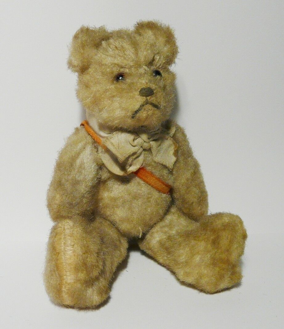 Antique Original Teddy Bear Baby Miniature Mohair 17 cm