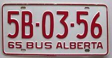 Alberta 1965 BUS License Plate HIGH QUALITY # 5B-03-56