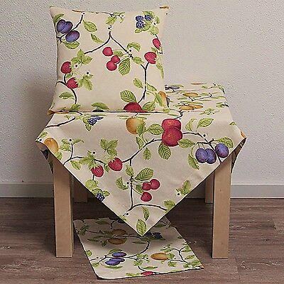 Tischläufer Kissenhülle Kissenbezug Tischdecke Sommer Früchte Obst Kirsche